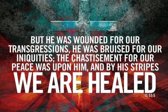 Bu his stripes we were healed