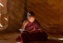 Monk Reading Scriptures 1