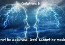God cannot be mocked 1