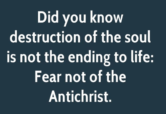 Fear of AntiChrist
