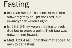 Fasting Feasts of TPM