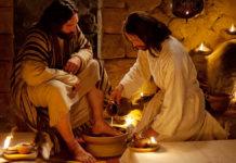 Jesus washes feet 1